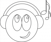 Coloriage smiley musicien