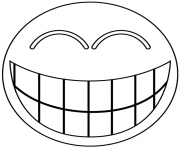 Coloriage smiley rire