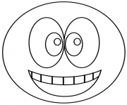 Coloriage smiley sourire