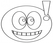 Coloriage smiley exclamatif