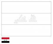 drapeau iraq dessin à colorier