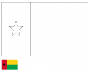 drapeau guniee dessin à colorier