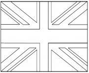drapeau angleterre dessin à colorier