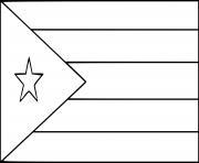drapeau cuba dessin à colorier