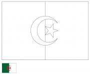drapeau algerie 2 dessin à colorier