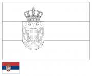 drapeau serbie dessin à colorier