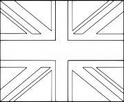 drapeau royaumeuni dessin à colorier