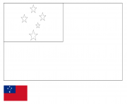 drapeau samoa dessin à colorier