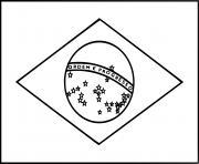 drapeau bresil dessin à colorier