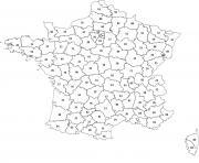 carte des departements de france dessin à colorier