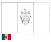 drapeau moldova dessin à colorier