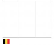 drapeau belgique dessin à colorier