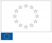 drapeau union europeenne europe european union flag dessin à colorier