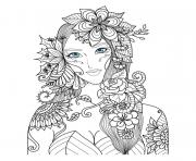 Coloriage belle fee adulte