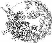 Coloriage fee clochette sort de sa boite dessin
