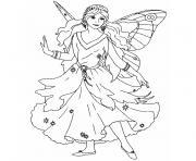 fee elfes dessin à colorier