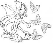 Coloriage winx fee