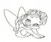 fee facile souriante dessin à colorier
