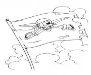 Coloriage drapeau pirate