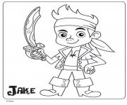 jake pirate maternelle disney junior dessin à colorier