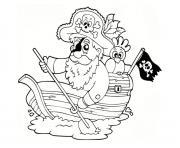 bateau pirate maternelle dessin à colorier
