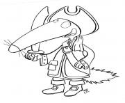 Coloriage loup pirate