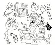 Coloriage pirate maternelle facile enfant