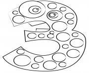 chiffre 5 maternelle dessin à colorier