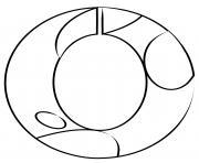 chiffre 0 maternelle dessin à colorier