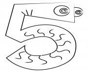 chiffre 3 maternelle dessin à colorier