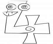 chiffre 4 maternelle dessin à colorier