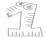 chiffre 1 maternelle dessin à colorier