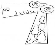 chiffre 7 maternelle dessin à colorier