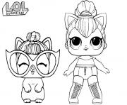 Coloriage LOL Kitty Queen