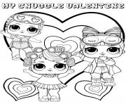 Coloriage snuggle valentine lol dolls kids
