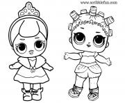 Coloriage snuggle valentine lol dolls kids dessin