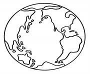environnement planete terre dessin à colorier