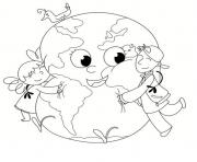 Coloriage journee internationale de la terre