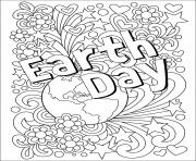 Coloriage EJour de la terre adulte arth Day