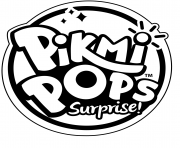 Pikmi Pops Logo to Color dessin à colorier