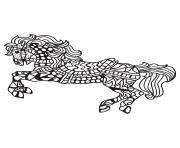 adulte cheval mandala 3 dessin à colorier