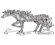 Coloriage adulte cheval antistress 05