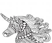 Coloriage adulte cheval licorne
