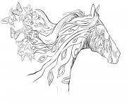 Coloriage Cheval Papillon.Coloriage Adulte Cheval A Imprimer Gratuit Sur Coloriage Info