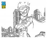 Coloriage teen titans go personnages film dessin