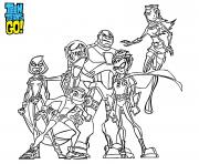 Coloriage teen titans go adulte