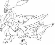 Coloriage kyurem blanc pokemon legendaire