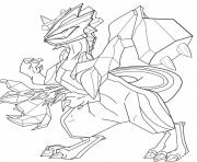 Coloriage pokemon legendaire zekrom