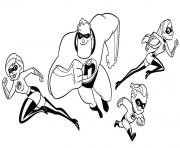 Coloriage les indestructibles disney elastigirl dessin