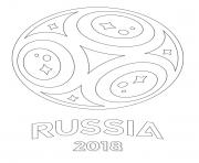 coupe du monde 2018 Russie FIFA dessin à colorier